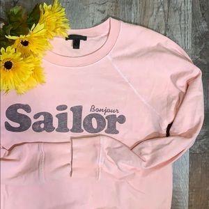 J Crew Bonjour Sailor | Pink Vacation Sweater